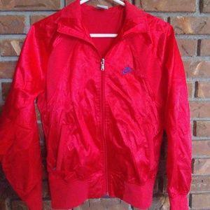 Nike Red Shiny Track Jacket Mens Size M